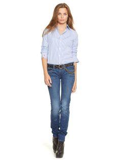 Custom-Fit Striped Shirt - Polo Ralph Lauren Long-Sleeve - RalphLauren.com