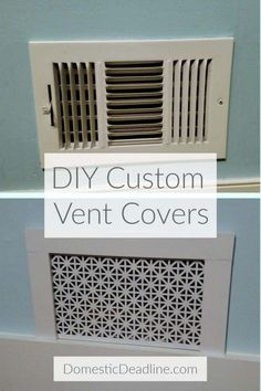 Learn how to make custom air vent covers that fit the style of your home instead of metal or plastic big box store vents. Customize to your style Home Improvement Cast, Home Improvement Contractors, Home Improvement Projects, Home Projects, Diy Furniture Table, Diy Furniture Plans, Building Furniture, Furniture Upholstery, Furniture Design
