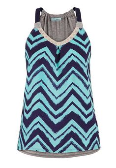 tank with chiffon front in chevron stripe print (original price, $29) available at #Maurices