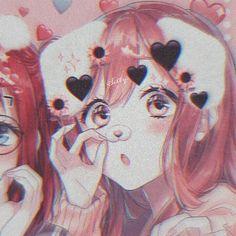 metadinhas for 3 Anime Neko, Kawaii Anime Girl, Otaku Anime, Fan Art Anime, Anime Art Girl, Cute Anime Pics, Cute Anime Couples, Dark Anime, Anime Best Friends