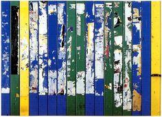Palissade Raymond Hains (1976) Ffd4051dd #galeriew #raymondhains #art #fence #blue #green #yellow #bleu #vert #jaune #artcontemporain #contemporaryart #artgallery #galerieart #artwork Raymond Hains, Nouveau Realisme, Richard Hamilton, Modern Art, Contemporary Art, Collage Art, Collages, Artist Profile, Classical Art