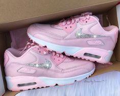 3f30954b64 Swarovski Violet Nike Air Max 90 Women Girls Shoes