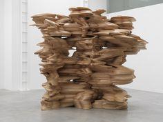 TONY CRAGG. Group, 2012. Wood, 325 x 236 x 386 cm.