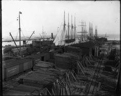 Loading Lumber at Mobile docks, ca. 1915  USA Archives