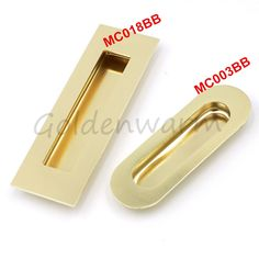 Goldenwarm Cabinet Handles Stainless Steel Golden Recessed Flush Pull Finger Insert Sliding  Cupboard Door Handle Knobs #Affiliate