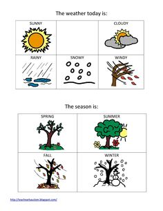 Teach Early Autism: Weather and Seasons Printable!
