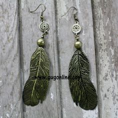 Use the discount code GUGREPKCAR for 10% off your entire purchase at www.gugonline.com! Gold Feather Dangle Earrings