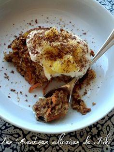 Gruau gâteau aux carottes cuit au four