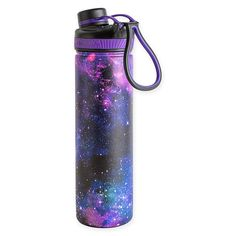 The Manna Ranger PRO Water Bottle is ideal for your daily activities. Featuring a large opening for filling and adding ice, and a narrow mouth for drinking, this double wall insulated bottle keeps hot and cold drinks at their ideal temperatures. Stylish Water Bottles, Galaxy In A Bottle, Aesthetic Galaxy, Best Water Bottle, Galaxy Painting, School Items, Stainless Steel Bottle, Bottle Painting, Cold Drinks