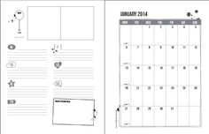 2014 Project Life Planner Pages Freebie