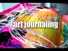 No fail art journalling Mixed Media Techniques, Mixed Media Tutorials, Art Journal Techniques, Art Tutorials, Art Journal Pages, Art Journals, Altered Books, Altered Art, Art Journal Tutorial