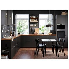 Use these Ikea kitchen hacks to update your cabinets quickly and cheaply. You don't even need an Ikea kitchen to try them. Kitchen Interior, Kungsbacka, Kitchen Inspirations, Black Kitchens, Ikea Kitchen Inspiration, Kitchen Remodel, Kitchen Decor, Kitchen Gallery, Best Kitchen Designs