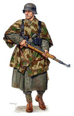 The Military Artwork of Dmitriy Zgonnik Military Weapons, Military Art, Military History, Ww2 Uniforms, German Uniforms, Military Uniforms, German Soldiers Ww2, German Army, Camouflage