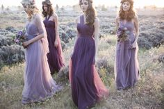 Jenny Yoo Annabelle Dresses in Lilac  Raisin | Photography by Stephanie Williams
