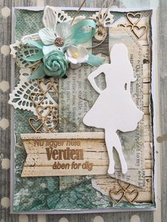 Riddersholm Design: Konfirmationskort Woodlands of Scandinavia Scrapbooking, Scrapbook Cards, Envelope Punch Board, Pretty Cards, Artisanal, Tim Holtz, Cardmaking, Banner, Clip Art