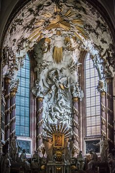 High altar of St. Michael's Church - Fall of Angels, Vienna, Austria by rvtn