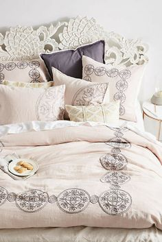 Anthropologie Embroidered  'Kauri' Duvet. This could go rustic or formal! Sponsored