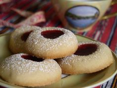 Vaniljkakor Swedish Vanilla Cookies) Recipe - Food.com (do 1/3 cup powdered sugar and 1/3 cup white sugar)