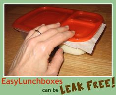 Here's a little tip to stop leaks and spills if you want to pack runnier foods.