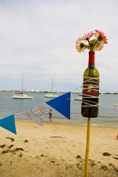 beach party decor, or you can stick it in the grass :)