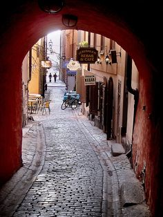 Gamla Stan. In the corner of this street, make right turn, there's a very delicious vegetarian resto called Heritage. Like it soo much!