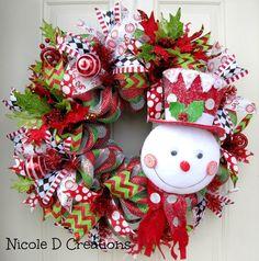 Deluxe RAZ Frosty Hat Snowman Christmas by NicoleDCreations