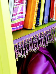 Great locker decorating idea!!! DIY. Simple, just add a little fringe you can buy from a craft store. And presto! A fantastically decorated locker!!!