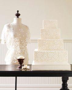 Lace wedding cake -Ron Ben-Israel