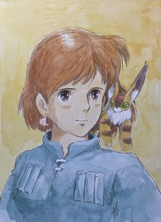 Illustrations done for the Nausicaa manga ===== Manga began running in monthly 'Animage' in Feb. 1982, collected in order of appearance ===== Notes: I know I'm the one who drew this, but I don't really like this picture. The Nausicaa inside me would never pose like this.