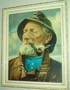 Schilderij van Dorus Rijkers. De bekendste redder van schipbreukelingen.