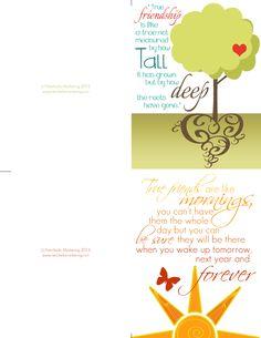 Beautiful Freebie -- Friendship Card Printable