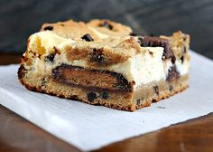 Peanut Butter Cup-Peanut Butter Chocolate Chip Cookie Cheesecake Bar
