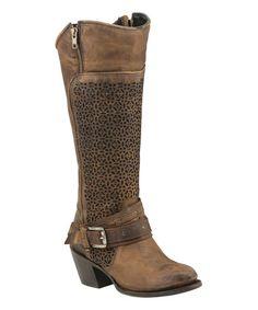 Look what I found on #zulily! Tan Centaurus Cowboy Boot #zulilyfinds