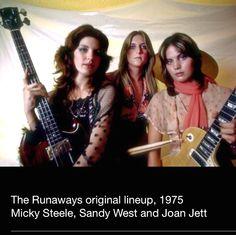 Joan Jett, Sandy West and Micky Steele