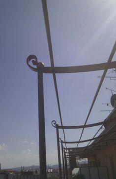 Gazebo Canopy, Utility Pole