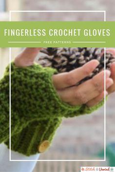 Fingerless Gloves: 21 Easy Crochet Patterns for fall and winter