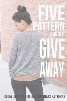 Meridian Cardigan Pattern Review and 5 PATTERN BUNDLE GIVEAWAY - delia creates