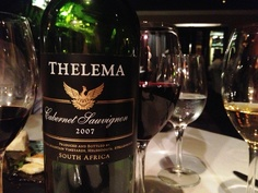 I love the cabernet sauvignon from Thelema an iconic vineyard in Stellenbosch, Cape Town