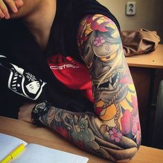 Tatuajes de demonios japones ONI