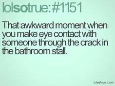 lmao!  Awkward indeed!