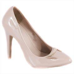 Pantofi nude cu toc 51936N - Reducere 60% - Zibra