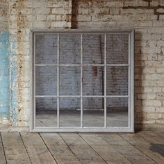 Wilton White Grid Mirror