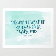 """""""Were I to count them, they would outnumber the grains of sand— when I awake, I am still with you."""" Psalm Watercolor and brush calligraphy Pretty Words, Beautiful Words, Cool Words, Watercolor Quote, Calligraphy Watercolor, Be My Hero, Psalm 139, Calligraphy Quotes, Verses"""