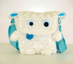 Snow Monster Bag by LEMMonsterBags on Etsy, $60.00 Why didn't I think of this!! I know exactly what and wear to get the fur w/o having to knit one more thing!! -squeeee-