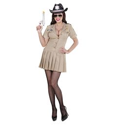 Disfraz de Chica #Sheriff  Incluye: Vestido  Composición: Streck http://www.disfracessimon.com/disfraces-adultos/2676-disfraz-chica-sheriff-p-2676.html