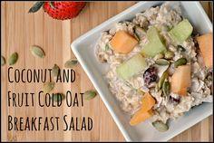 Coconut and Fruit Cold Oat Breakfast Salad #MeatlessMonday