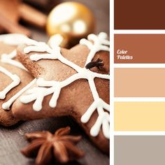 beige, brown color, christmas palette, dark brown, gray color, gray-brown, light brown, New Year color schemes, New Year colors, pastel yellow, shades of brown, yellow color.
