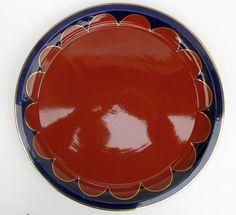 Grosse Cadinen Keramik Schale/ Platte um 1930 - Durchmesser 33cm.