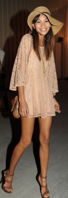 Chanel Iman Hippie Chic Lace dress