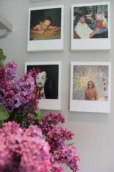 Paint colors that match this Apartment Therapy photo: SW 6258 Tricorn Black, SW 2704 Merlot, SW 6565 Grandeur Plum, SW 6571 Cyclamen, SW 6003 Proper Gray